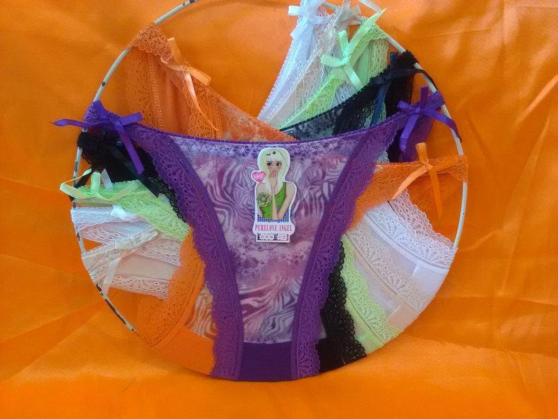 Труси бавовна з сіткою 44-48, Один колір в упаковці