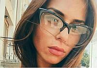 Имиджевые фигурные женские очки Кошачий глаз 42091 с1