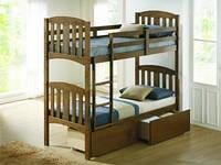 Двоярусне дерев'яне ліжко Мальвіна