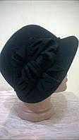 Шляпа с полями украшенная цветочной композицией, фото 1
