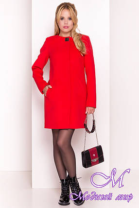 Женское красное кашемировое пальто арт. Фортуна 4812 - 5342, фото 2