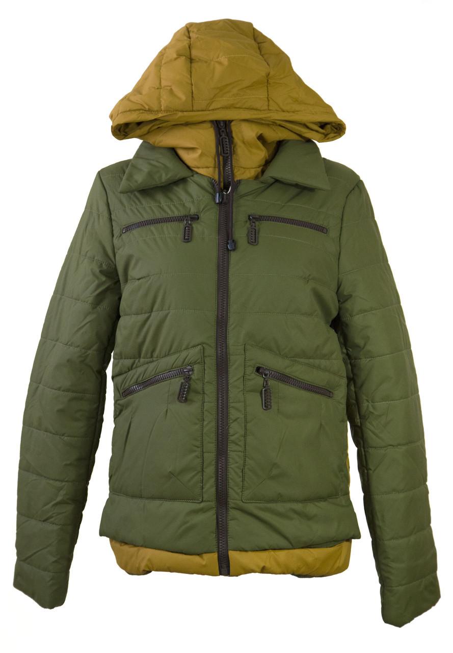 Демисезонная двухцветная куртка LEKA