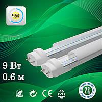 Светодиодная лампа LED T8 9W 0.6м алюминий 6500K (холодный белый)