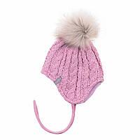 Зимняя детская шапка для девочки Nano F18 TU 452 Vintage Pink. Размеры 6/12 мес и 12/24 мес
