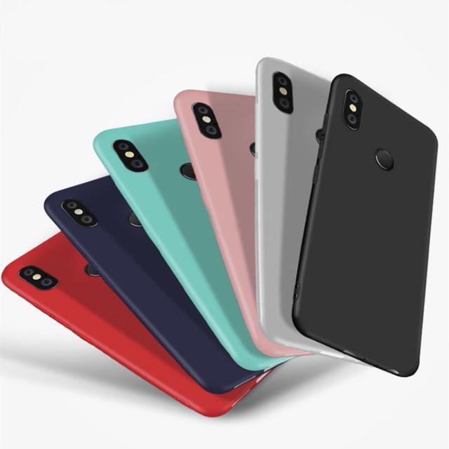 Цветной силиконовый чехол Xiaomi Mi A2 lite Розовый