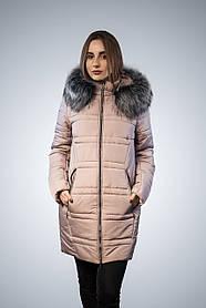 Куртка женская зимняя с капюшоном и мехом