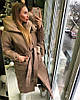 Пальто пуховик зимнее дутое с капюшоном длинное, фото 2