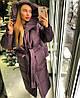 Пальто пуховик зимнее дутое с капюшоном длинное, фото 4