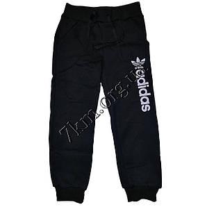 """Спортивные штаны +флис для мальчиков реплика """"Adidas"""" 2-5 лет черные Оптом 100"""