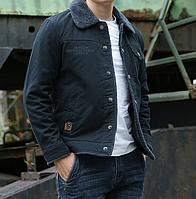 Мужская зимняя вельветовая куртка 1149, фото 1