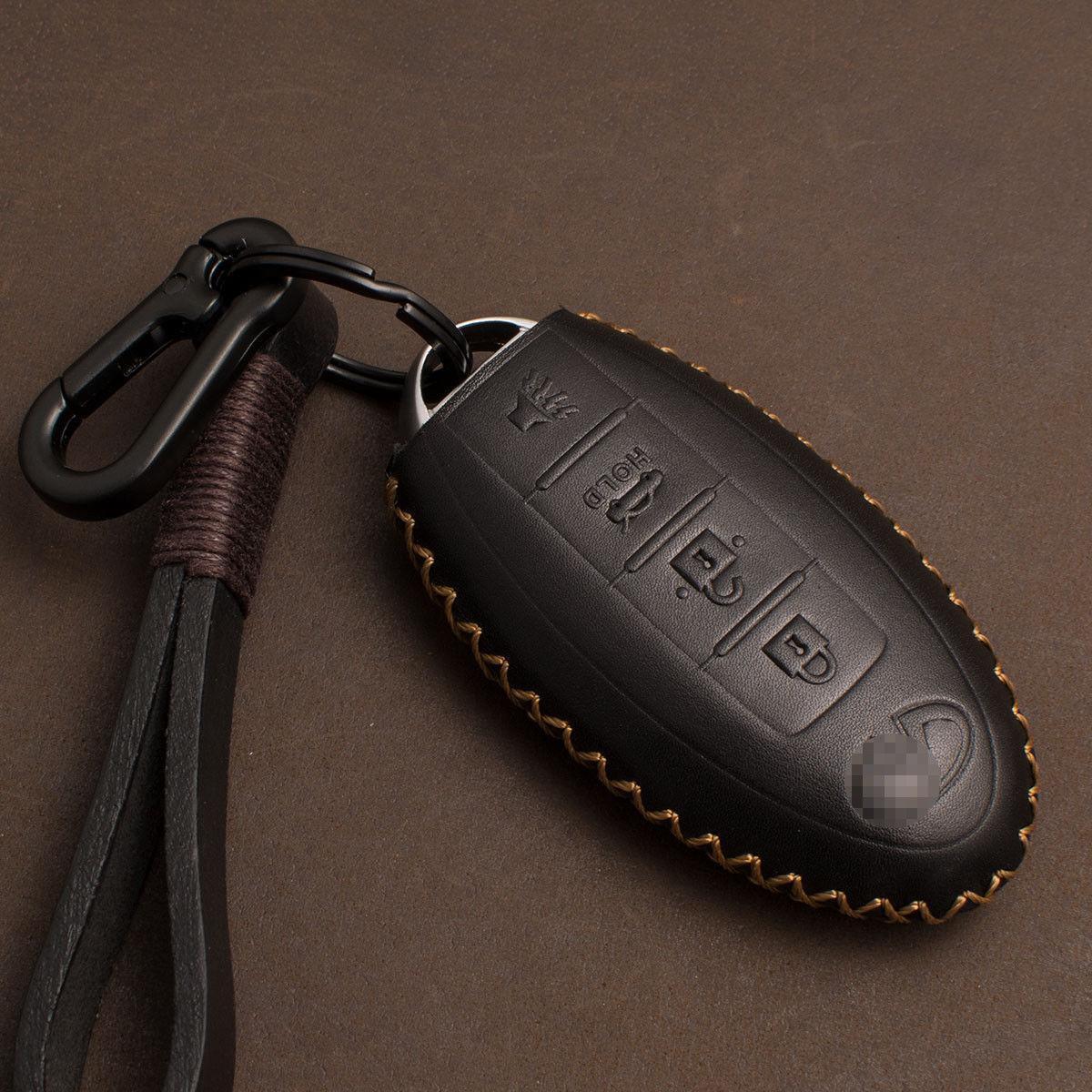 Чехол из тонкой телячьей кожи для ключа Infiniti Q30/50/60/70,QX30/50/60/70/80 EX FX 35/37/45