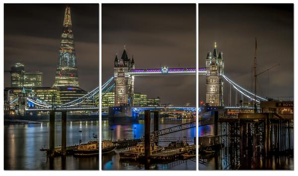 """Картина на стекле """" Лондонский мост"""""""
