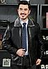 Чоловіча зимова шкіряна куртка 1150