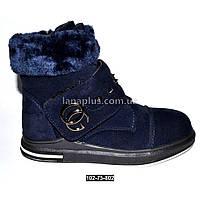 Зимние ботинки для девочки, нубук на меху, 33 размер (19.8 см)