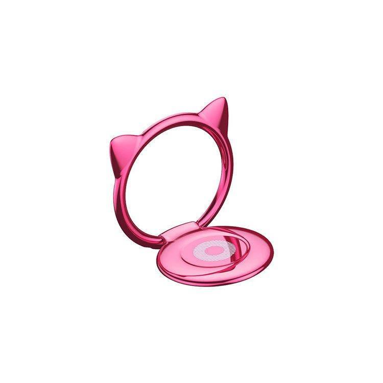 Кольцо-держатель Baseus Cat Ear для смартфона Pink