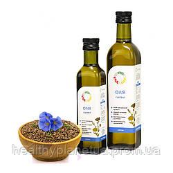 Льняное сыродавленное масло в бутылке - 250 мл