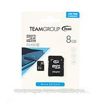 Карта памяти  Team 8Gb class 4 (adapter SD)