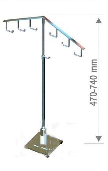 Вішалка настільна з крючками з регулюванням висоти