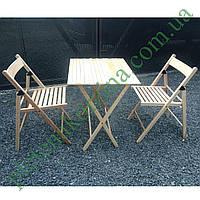 Набор складной садовой мебели, стулья и стол из дерева Арт.773
