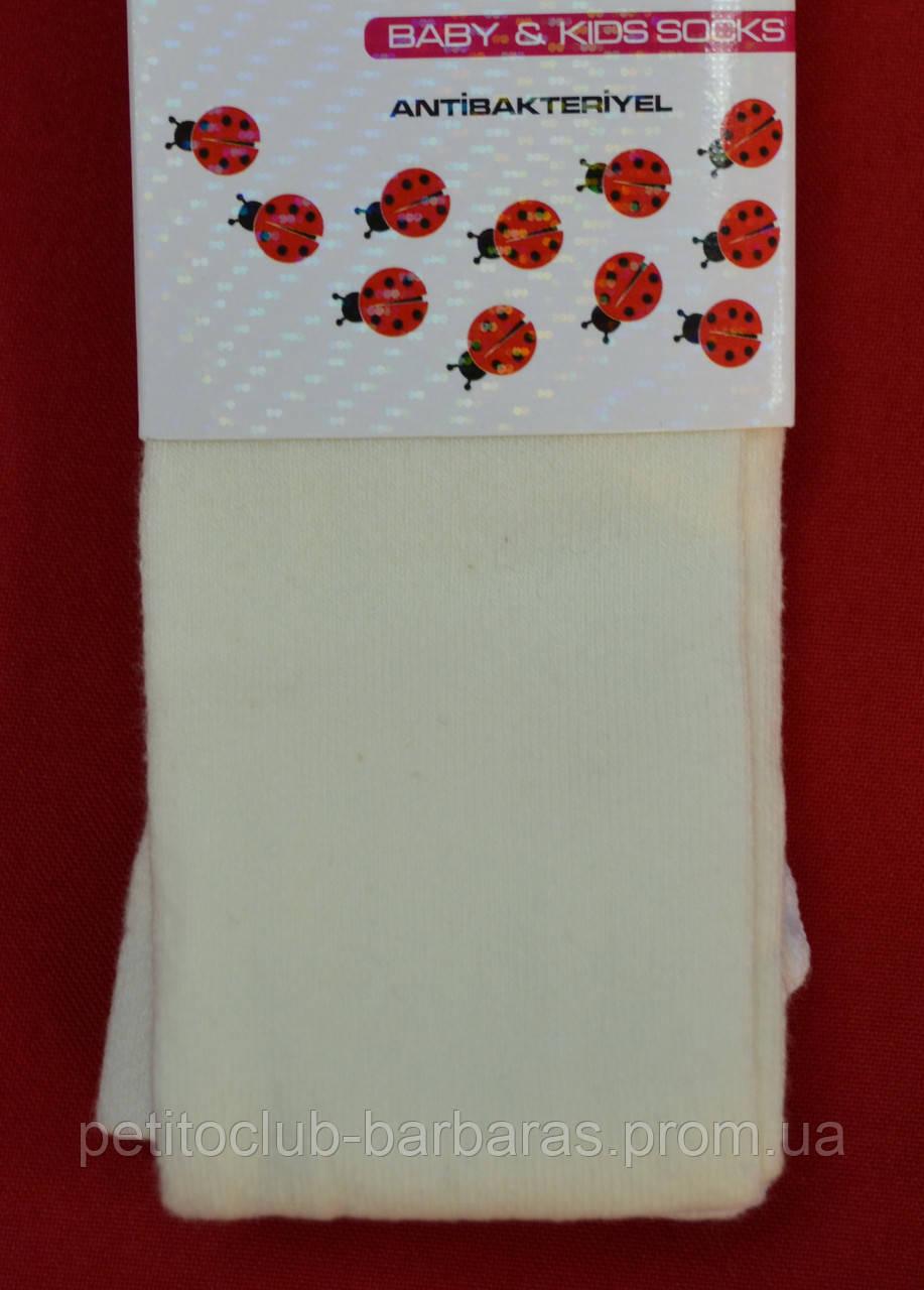 Детские колготы однотонные кремовые (DeMelatti, Турция)