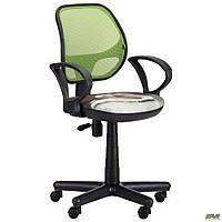 Кресло Чат/АМФ-4 сиденье Дизайн №1 Гонки/спинка Сетка оранжевая