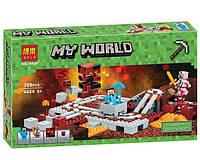 """Конструктор Minecraft Bela 10620 """"Подземная железная дорога"""" 399 деталей"""