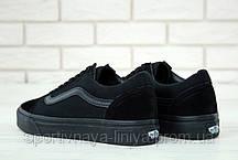 Кеды унисекс черные Vans Old Skool (реплика), фото 2