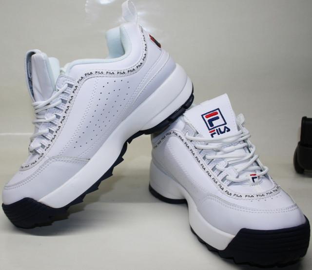 Повседневные женские кроссовки fila disruptor 2 white black-red-blue - выбирайте на сайте tufli.in.ua