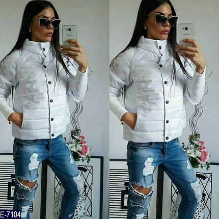 Куртка женская белая демисезонная, фото 2