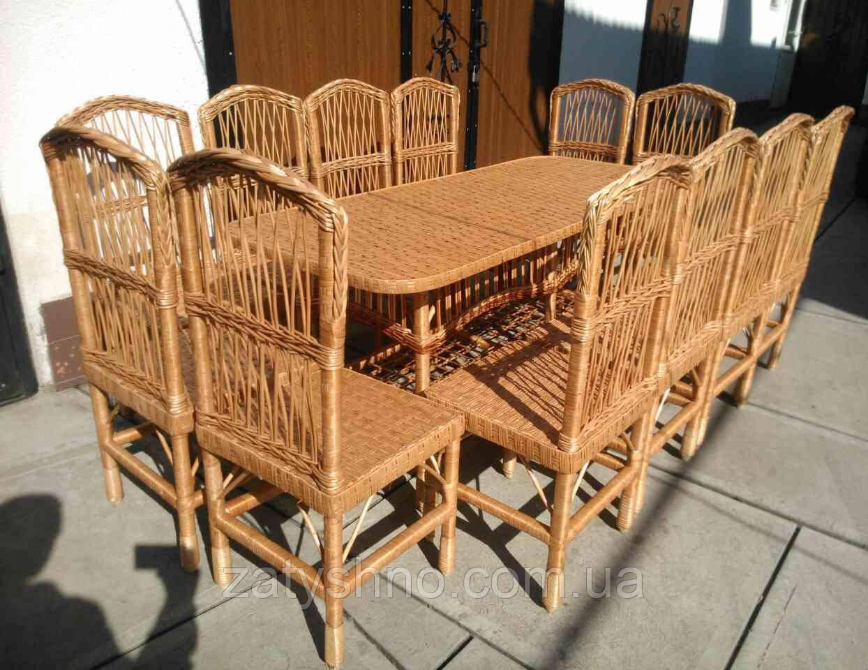Плетеная мебель для столовой