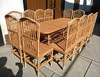 Плетеная мебель для столовой, фото 1