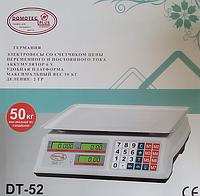 Торговые электронные весы Domotec DT 52 6 v 50 kg