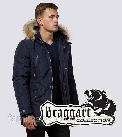Braggart Dress Code 27830 | Мужская куртка зимняя т-синяя, фото 2