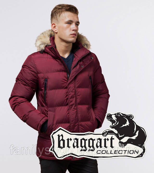 Braggart Dress Code 24712 | Зимняя мужская куртка бордовая