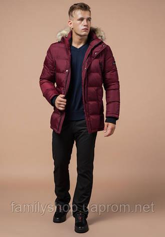Braggart Dress Code 24712 | Зимняя мужская куртка бордовая, фото 2