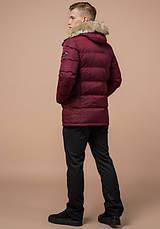 Braggart Dress Code 24712 | Зимняя мужская куртка бордовая, фото 3