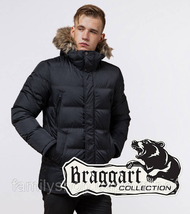Braggart Dress Code 24712 | Зимняя мужская куртка графит