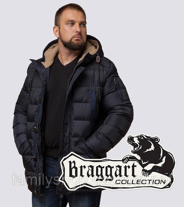 Braggart Dress Code 26402 | Зимняя куртка сине-черный