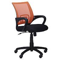 Крісло Веб сидіння Сітка чорна/спинка помаранчева Сітка, фото 1
