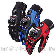 Мото рукавички pro-biker текстильні в асортименті різних кольорів. Розмір M