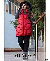Женская батальная жилетка с капюшоном , фото 1