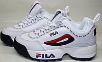Кроссовки фила женские белые Fila Disruptor 2 white black-red-blue 38