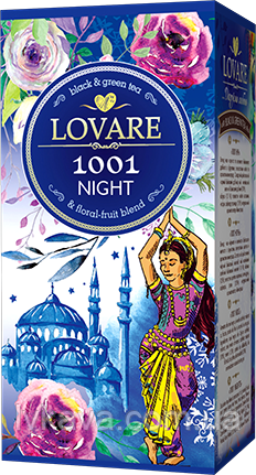 Чай черный и зеленый 1001 ночь  Lovare , 24 пак, фото 2