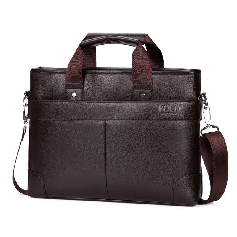 a94fae6ab84f Портфель-сумка мужской A4 Polo Vicuna V6602 деловой коричневый - LEVSKI —  Твой интернет-