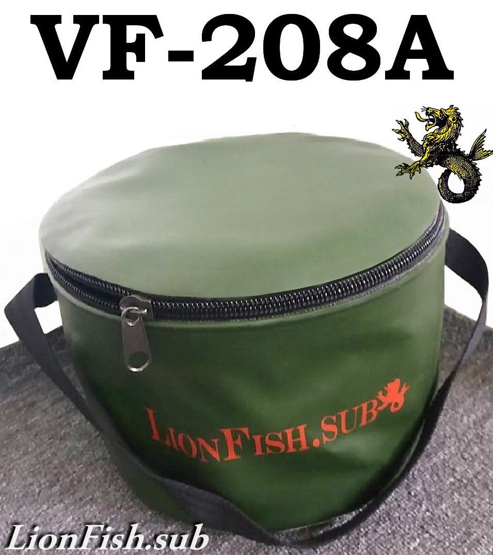 Ведро для Прикормки-Рыбалки LionFish.sub 8л с Крышкой на Молнии / Сумка для Трофейной Рыбы ПВХ/Складное