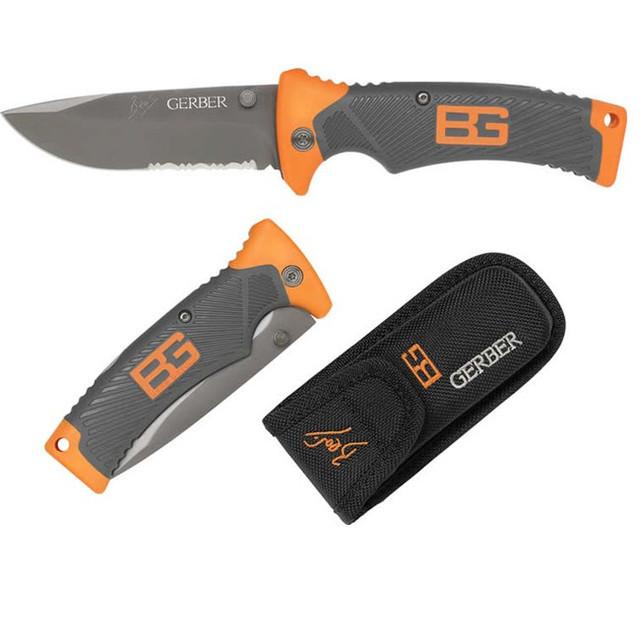 Туристический складной нож Gerber Bear Grylls Folding Sheath Knife с чехлом копия (18,6 см)