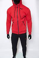 Костюм спортивный мужской теплый PM 8332-06 красный реплика