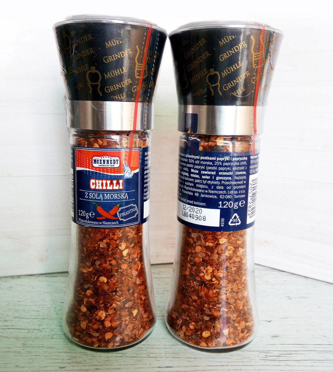 Микс перцев с солью Mcennedy American Way Chilli в многоразовой мельнице, 120 г.