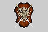 Панно сувенирное 031, отличная идея для подарка, меч - 2 шт, настенное панно 270*375