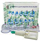 Набор вакуумных банок (12 штук) для массажа от целлюлита для домашней терапии | C насосом | Kang CI, фото 9